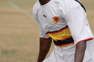 Team Angola during a friendly soccer match in Houston
