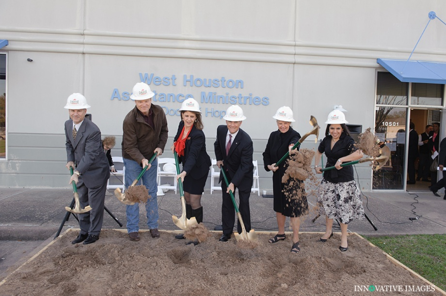 Groundbreaking photography for West Houston Assistance Ministries
