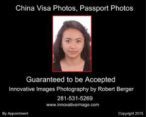 Chinese visa and passport photo example that meets requirements