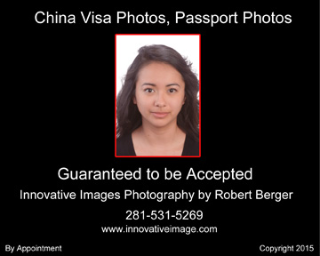 Chinese visa and passport photo example that meets requirements, Passport Photos All Countries