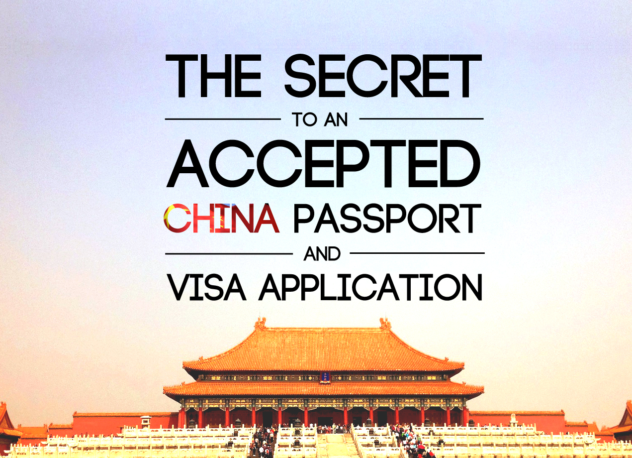 China visa and passport photo requirements need to be followed to guarantee acceptance