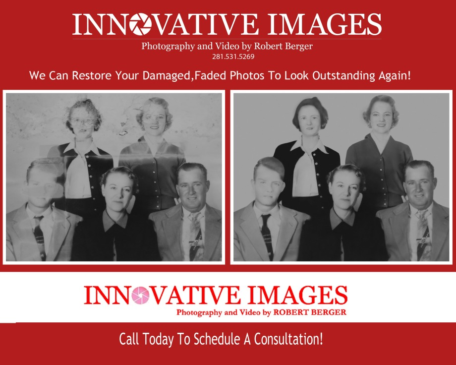Houston Picture restoration for old damaged photos Innovative Images Photography by Robert Berger
